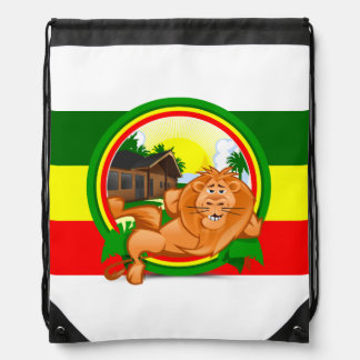 Lion rasta drawstring bag