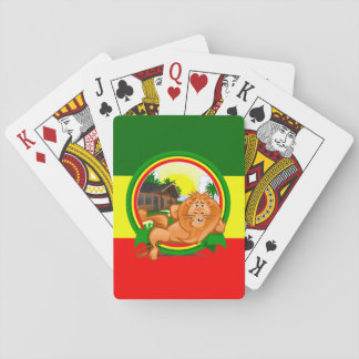 Lion rasta playing cards