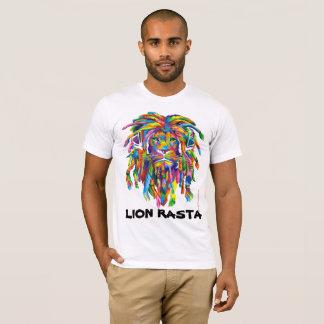 Lion Rasta Rastafarian Dreadlocks Art T shirt