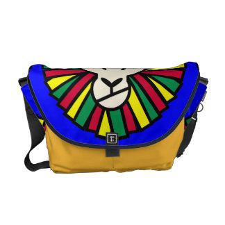 Lion Rastafarian Flag Messenger Bag