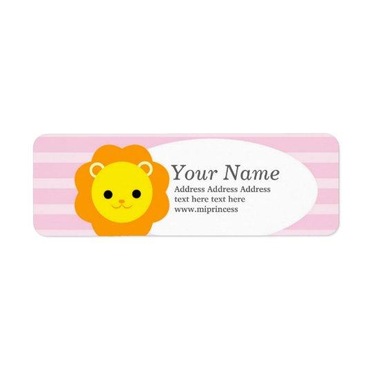 lion  return address stickers