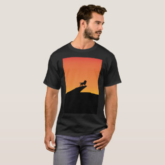 Lion Rey Safari Orange Art Sunset Modern T-Shirt