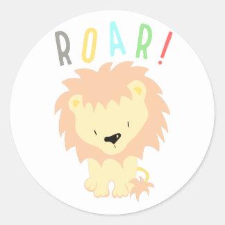 Lion Roar Classic Round Sticker