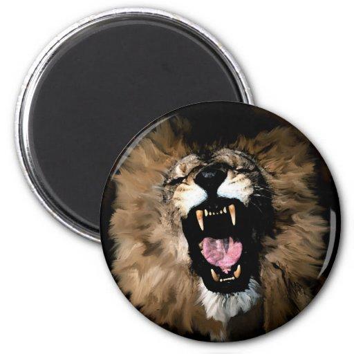 Lion roar magnet