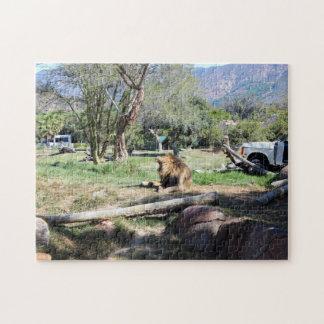 Lion Roaring | Wild Animal Park Jigsaw Puzzle