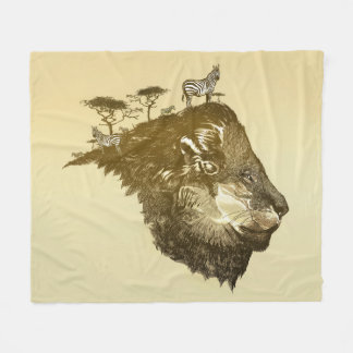 Lion Savanna Fleece Blanket