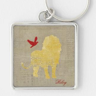 Lion Silhouette Keychain