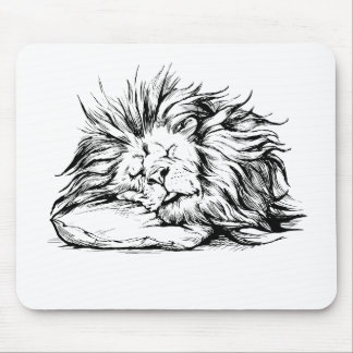 Lion-sleeping Mouse Pad