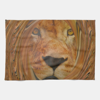 Lion smile hand towel
