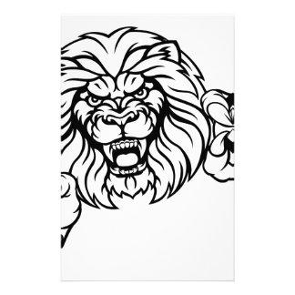 Lion Soccer Ball Sports Mascot Stationery