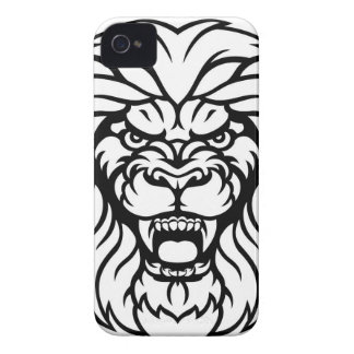 Lion Sports Mascot Angry Face iPhone 4 Case