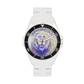 lion (spraypainted) wristwatch