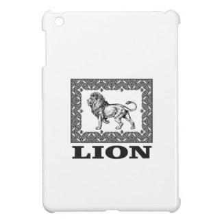 lion stamp iPad mini case