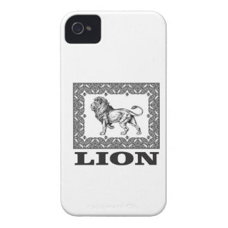 lion stamp iPhone 4 cover