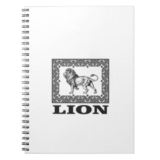 lion stamp notebook