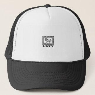lion stamp trucker hat