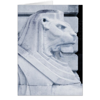 Lion statue in Nottingham Card