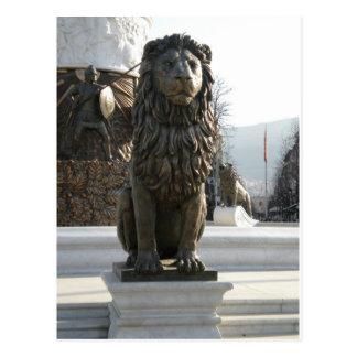 Lion Statue Postcard