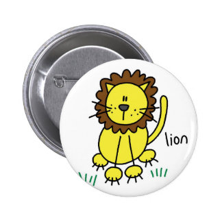 Lion Stick Figure Button