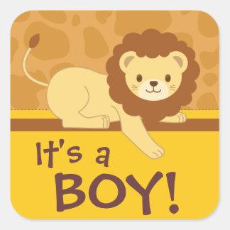 "Lion sticker ""It's a boy!"""