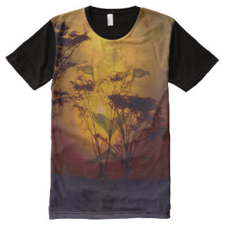 Lion Sunset All-Over Print T-Shirt