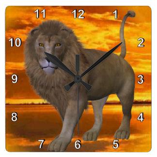 Lion Sunset Wallclocks