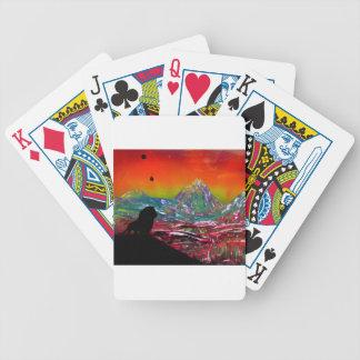 Lion Sunset Landscape Spray Paint Art Painting Poker Deck