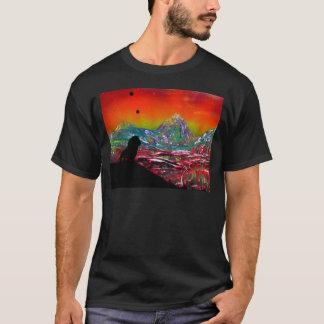 Lion Sunset Landscape Spray Paint Art Painting T-Shirt