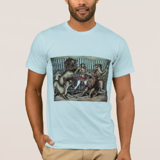 Lion Tamer In Cage With Lions Circus Poster T-Shirt