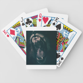 Lion Teeth Roar Fear Angry Roaring Strength Bicycle Playing Cards