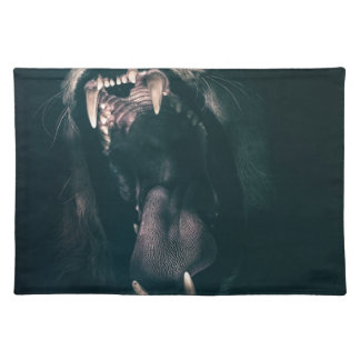 Lion Teeth Roar Fear Angry Roaring Strength Placemat