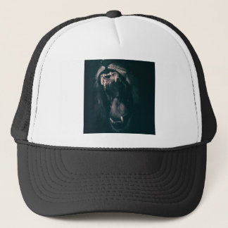 Lion Teeth Roar Fear Angry Roaring Strength Trucker Hat