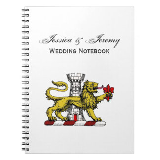 Lion Tower Fleur de Lis Crest Emblem C Notebook