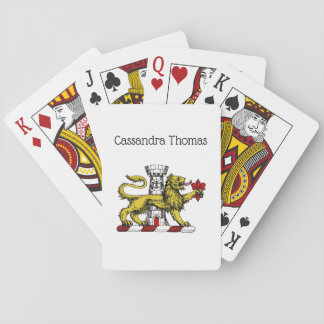 Lion Tower Fleur de Lis Crest Emblem C Playing Cards