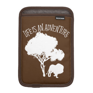 Lion Tree Jungle Animal Adventure Man Trip Travel iPad Mini Sleeves