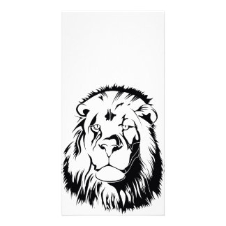 Lion Tribal 002 Personalized Photo Card