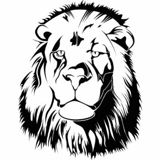 Lion Tribal 002 Photo Sculpture Key Ring