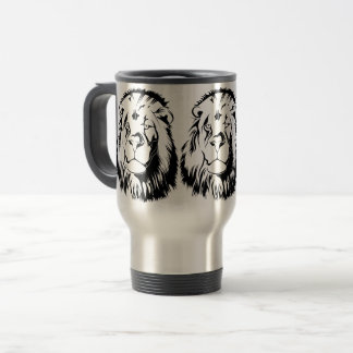 Lion Tribal 002 Travel Mug
