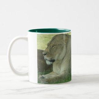 Lion Two-Tone Coffee Mug