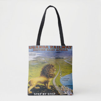 Lion Uganda Travel Tote Bag Africa