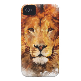 Lion Watercolor iPhone 4 Cover