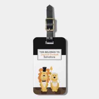 Lion Wedding Couple Customizable Luggage Tag