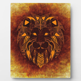 Lion wild animal abstract plaque