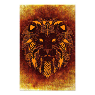 Lion wild animal abstract stationery