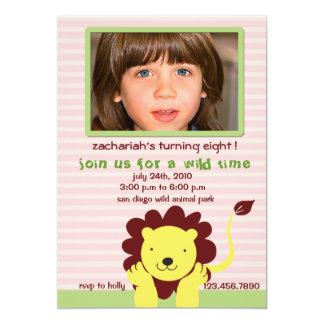 Lion - wild kids birthday party invitation