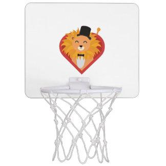 Lion with Hat in heart Zjrz1 Mini Basketball Hoop