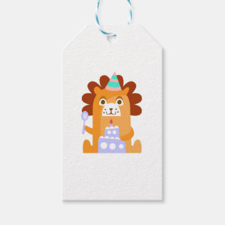 Lion With Party Attributes Girly Stylized Funky Gift Tags