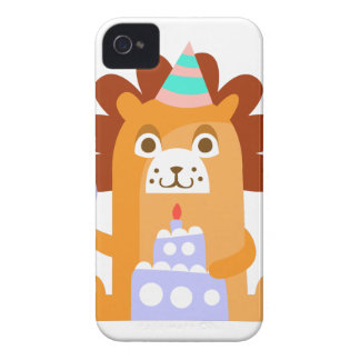 Lion With Party Attributes Girly Stylized Funky iPhone 4 Case