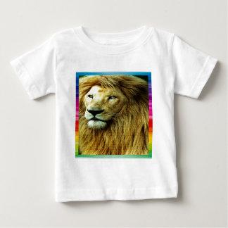 Lion With Rainbow Border Baby T-Shirt