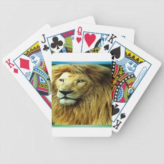 Lion With Rainbow Border Poker Deck